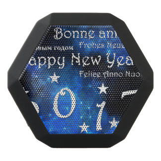 Happy new year 2017 black bluetooth speaker