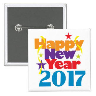Happy New Year 2017 Buttons