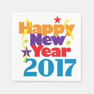 Happy New Year 2017 Disposable Napkin