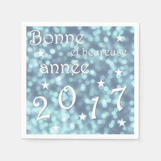 Happy new year 2017, french paper serviettes