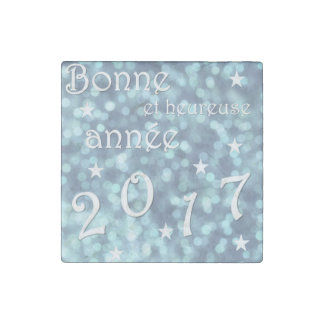 Happy new year 2017, french stone magnet
