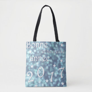 Happy new year 2017, french tote bag