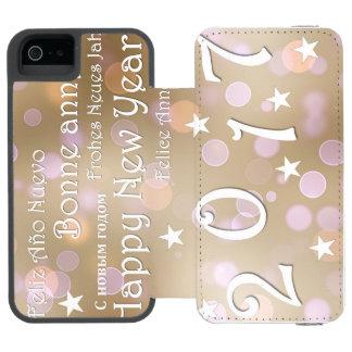Happy new year 2017 incipio watson™ iPhone 5 wallet case