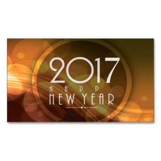 happy new year 2017 magnetic business cards