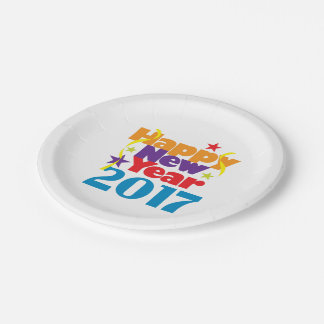 Happy New Year 2017 paper Plates 7 Inch Paper Plate