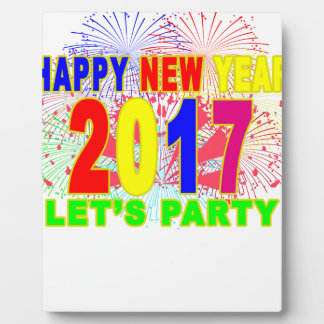 HAPPY NEW YEAR 2017 party Plaque