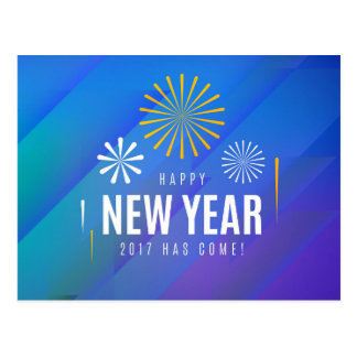 happy new year 2017 postcard
