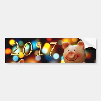 Happy New year 2017 Sticker Bumper Sticker