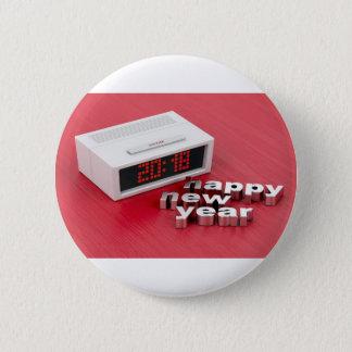 Happy New Year 2018 6 Cm Round Badge