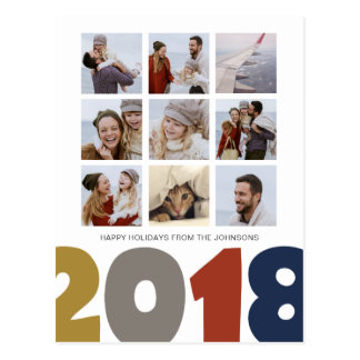 Happy New Year | 2018 | 9 photos | postcards