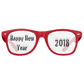 Happy New Year 2018 Adult Retro Party Sunglasses