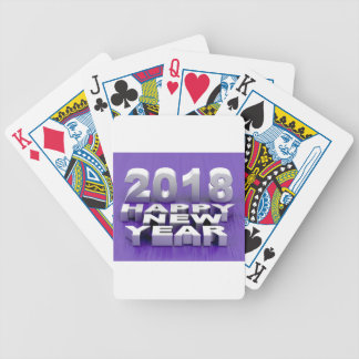 Happy New Year 2018 Bicycle Playing Cards
