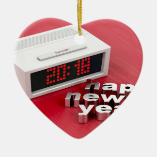 Happy New Year 2018 Ceramic Ornament