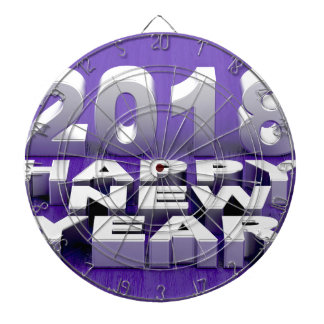 Happy New Year 2018 Dartboard
