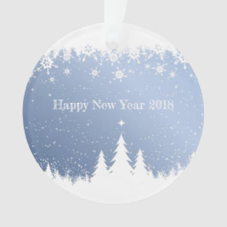 Happy New Year 2018 decoration (winter forest)