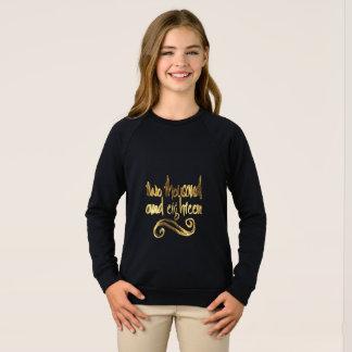 Happy New Year 2018 Elegant Black Gold Typography Sweatshirt