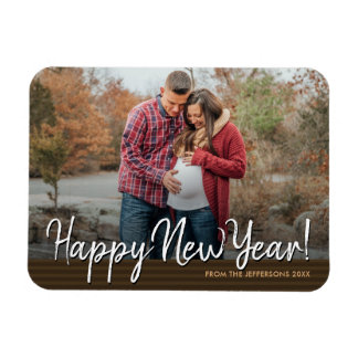 Happy New Year 2018 Family Photo Holiday Magnet