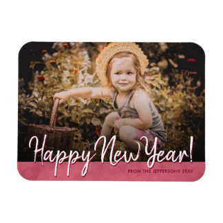 Happy New Year 2018 Family Photo Holiday Picture Magnet