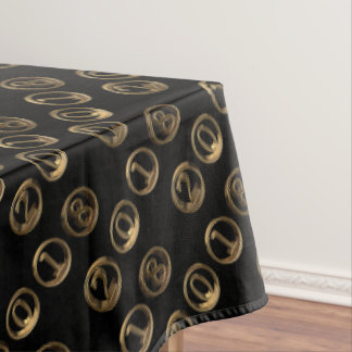 Happy New Year 2018 Golden Typography Numbers Tablecloth