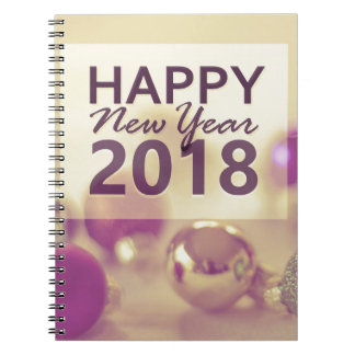 happy new year 2018 notebook