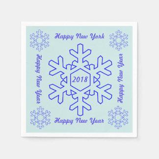 Happy New Year 2018 Paper Napkin