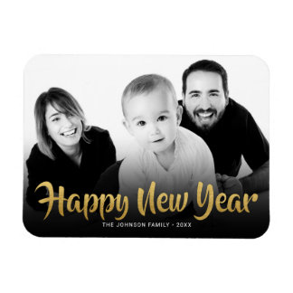 Happy New Year 2018 Photo Refrigerator Holiday Magnet