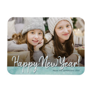 Happy New Year 2018 Photo Refrigerator Holiday Magnet