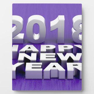 Happy New Year 2018 Plaque