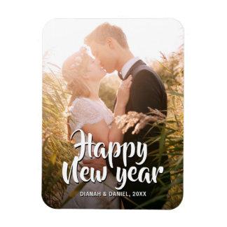 Happy New Year 2018 Wedding Photo Greeting Holiday Magnet