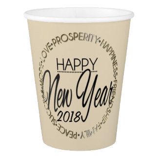 Happy New Year 20XX Paper Cup