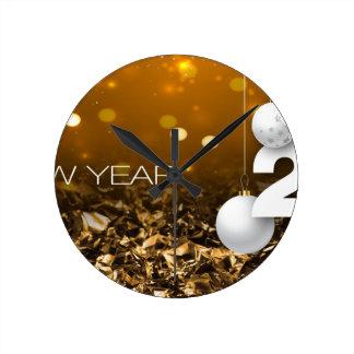 Happy-New-Year #2 Round Clock