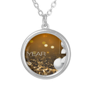 Happy-New-Year #2 Silver Plated Necklace