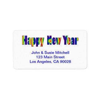 Happy New Year Address Label