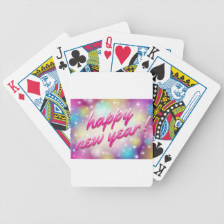 Happy-New-Year Balloons Bicycle Playing Cards