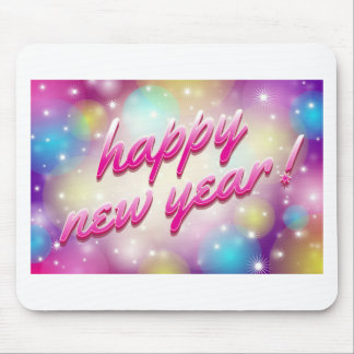 Happy-New-Year Balloons Mouse Pad