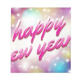 Happy-New-Year Balloons Notepad
