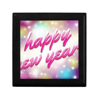 Happy-New-Year Balloons Small Square Gift Box