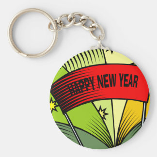 Happy New Year Banner Key Chain