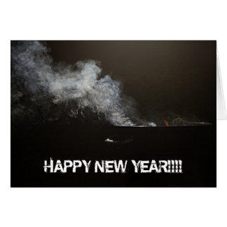 HAPPY NEW YEAR BBQ GREETING CARD