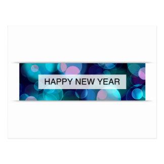 happy new year (bokeh) postcard