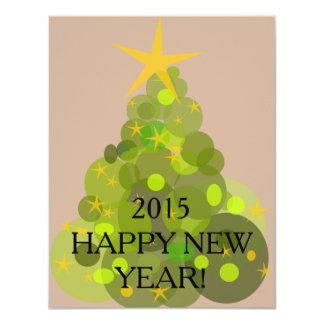 Happy new year card 11 cm x 14 cm invitation card
