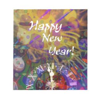 Happy New Year celebration. Notepad