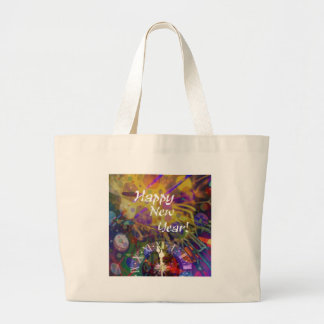 Happy New Year celebration.PNG Large Tote Bag