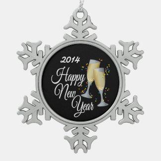 Happy New Year Champagne Confetti Ornaments