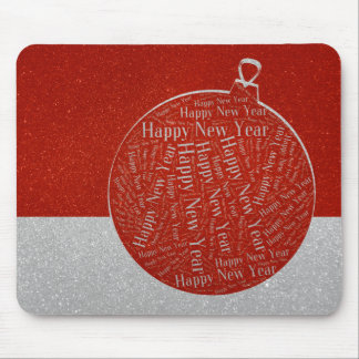 Happy New Year | Christmas Bauble Mouse Pad