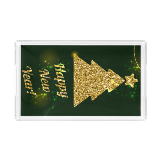 Happy New Year Christmas Green Holiday