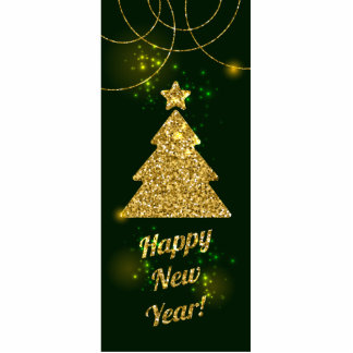 Happy New Year Christmas Green Holiday Photo Sculpture Magnet