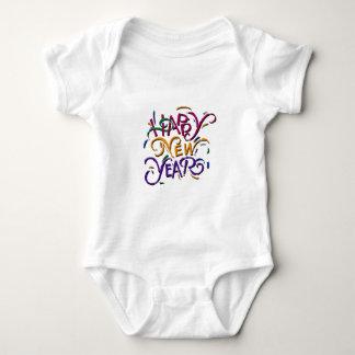 Happy New Year Color Baby Bodysuit