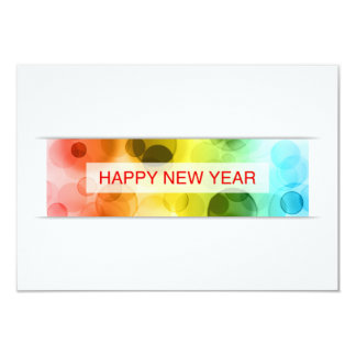 happy new year (colorful bokeh) announcement