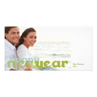 Happy New Year Corporate Photo Postcard Picture Card